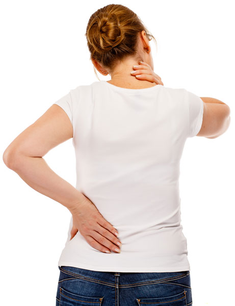 osteopathy in Ware - woman with neck and back issues